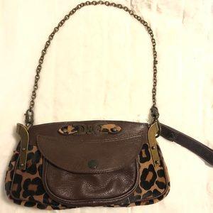 DOLCE & GABANA round leopard-effect purse